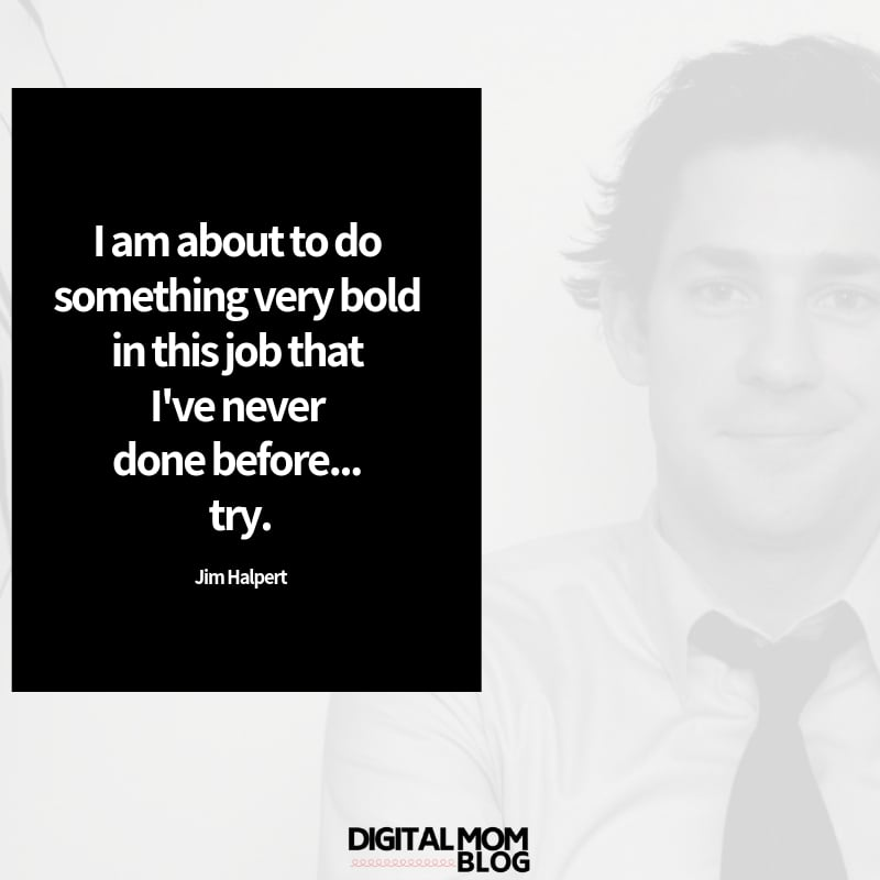 I am about to do something very bold in this job that I've never done before... try. - Jim Halpert Office Quote