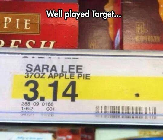 Well Played Target - Sara Lee Apple Pie $3.14