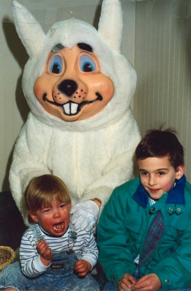 crying children easter bunny photo