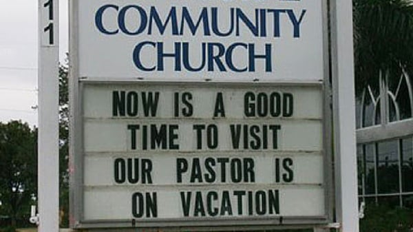pastor on vacation