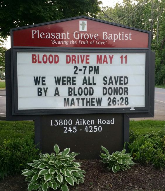 saved by a blood donor