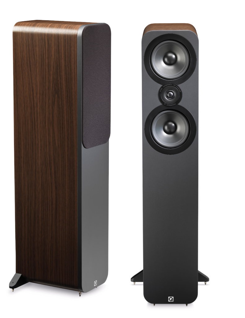 hight resolution of review q acoustics speakers and premium cables by audioquest