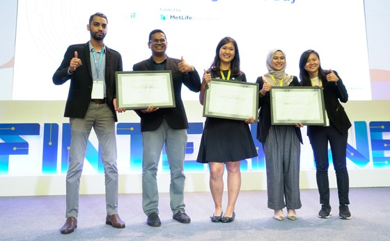 (From 2nd left) Senang co-founder and CEO Sharian Raj; GoGet co-founder and CEO Francesca Chia; and Pod co-founder and CEO Nadia Ismail