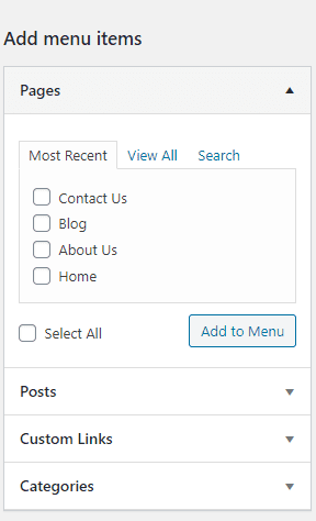 add menu in wordpress