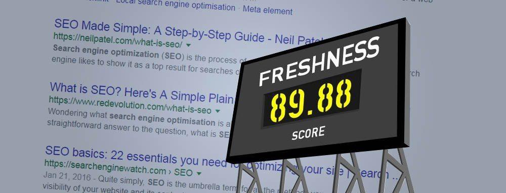Google Freshness Score