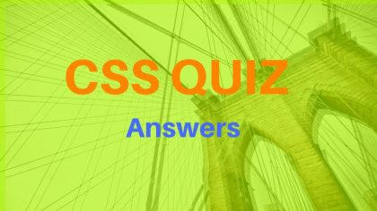 css exercise answers