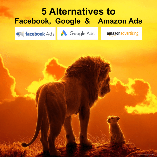 5 Alternatives to Facebook, Google and Amazon Ads