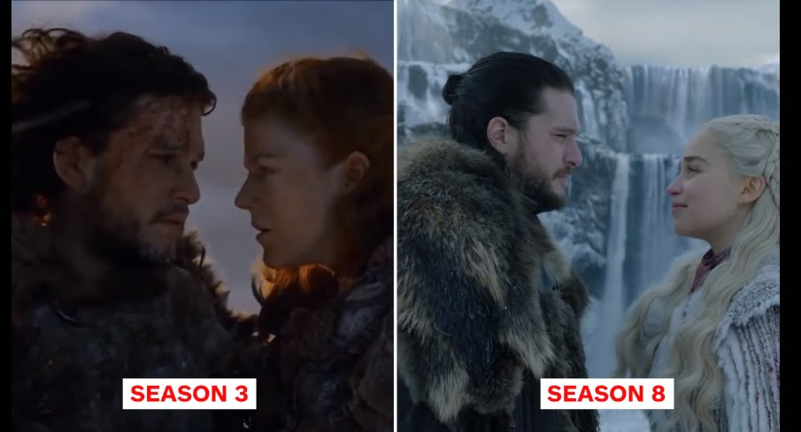 Game Of Thrones - Season 1 vs Season 8 Pictures Comparison