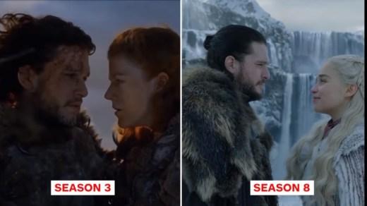 Game Of Thrones then now season vs season 8 61
