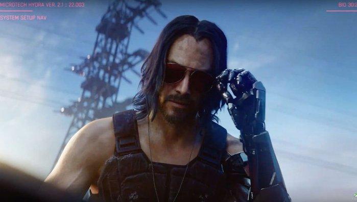 Keanu Reeves cyberpunk 2077 gameplay