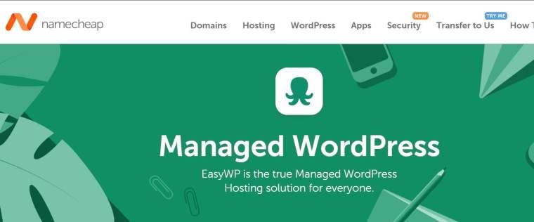 namecheap wordpress hosting