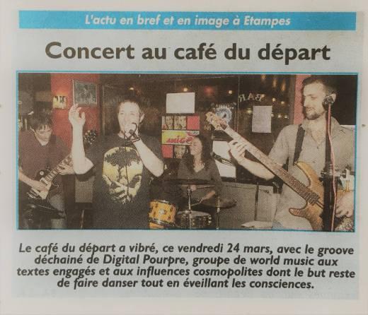 Concert au Café du Départ 24/03/17 à Etampes - Le Républicain