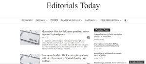 Editorials Today