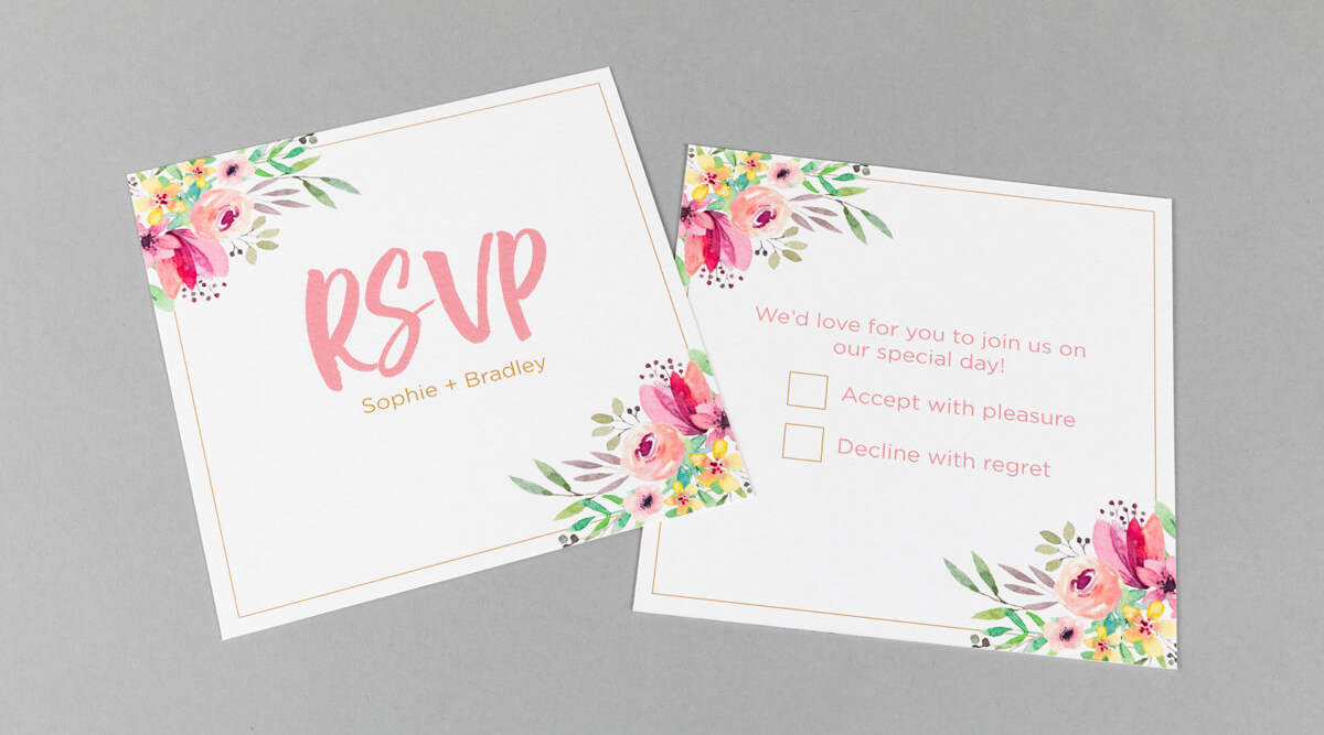 Print Rsvp Cards For Weddings Rsvp Card Digital Printing