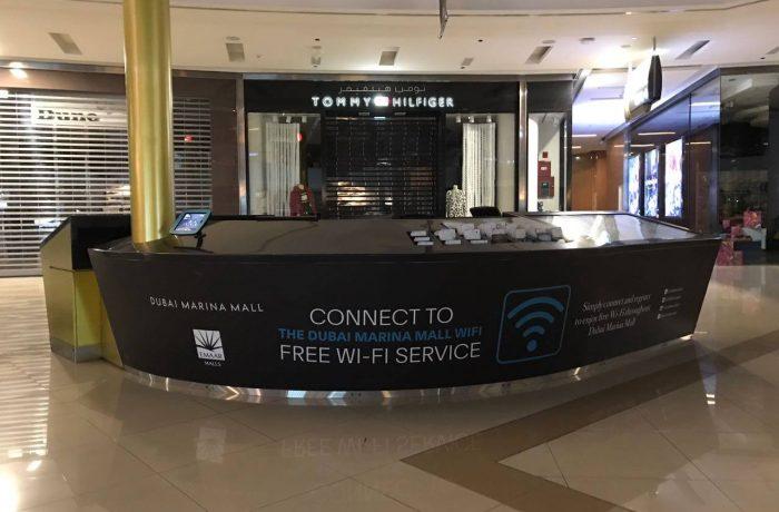 Dubai Marina mall reception desk  Neighbourhood Digital