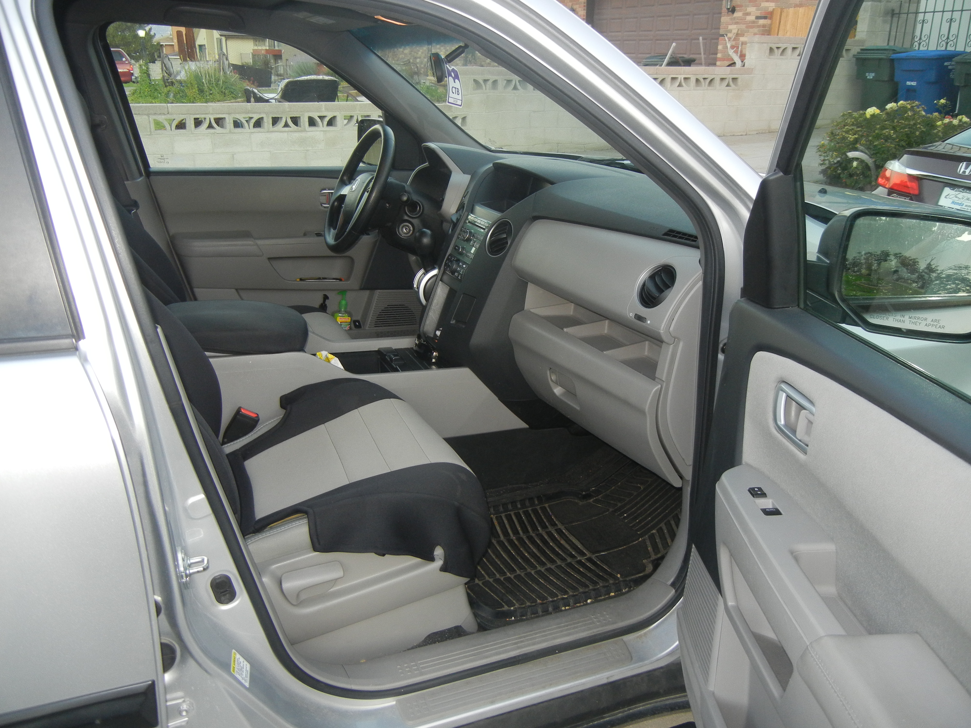 ...custom fitted seat covers....