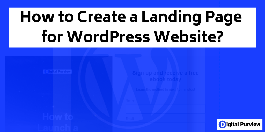 how to create a landing page for wordpress