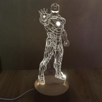 Iron Man 3D Led, 3D, LED, Lamp, Pakistan