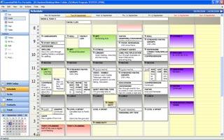 EssentialPIM - Weekly Schedule