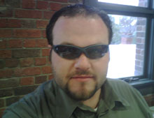 JD looking sauve with 3D glasses.