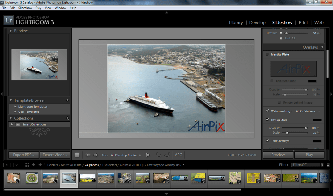 Adobe Lightroom 3 Slideshow ((Click to Enlarge))