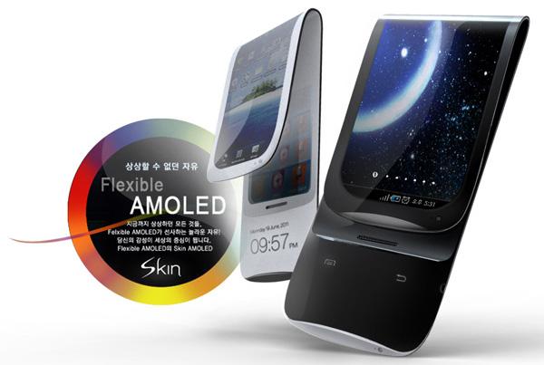 Samsung Galaxy Skin with flexible AMOLED screen in 2012