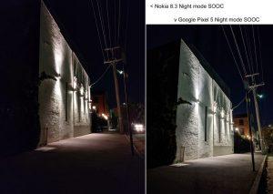 Night comparison