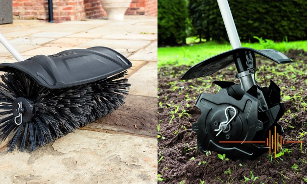 EGO MultiTool – The EGO Bristle Brush and EGO Cultivator – Quick Work for Pavements and Garden