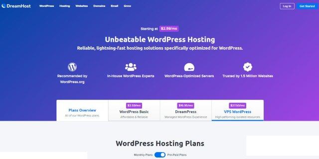 Dreamhost Webhosting Website