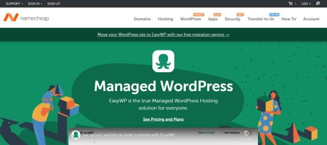 Namecheap Webhosting Website