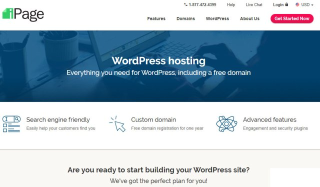 iPage Webhosting Website