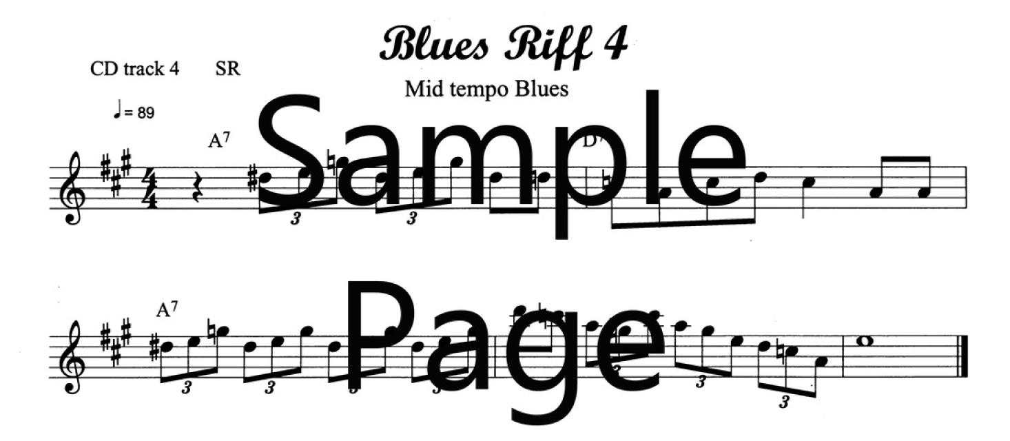 Lesson 4 PDF/MP3/MIDI/MP4video file ADG063-04 Bb version
