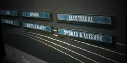 Signage for food, fashion, electrical, health & beauty, sports and leisure