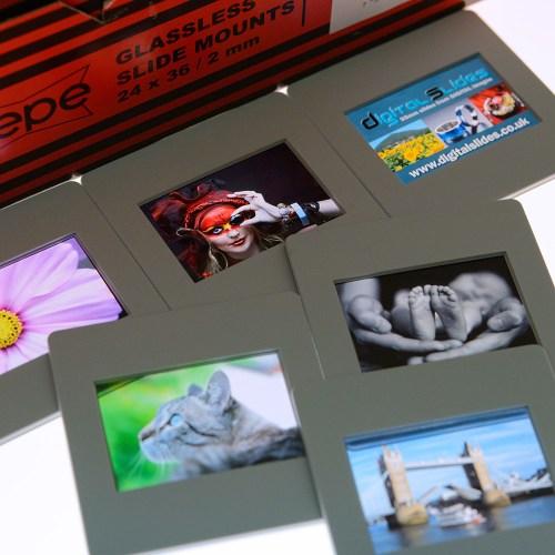Plastic mounted slides