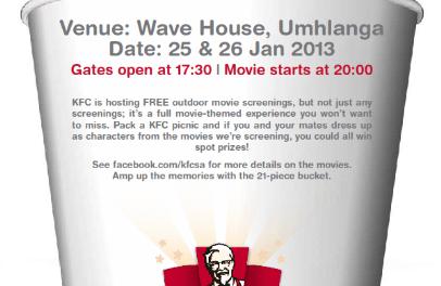KFC Big Movie Experience At The Wavehouse In Gateway, Durban