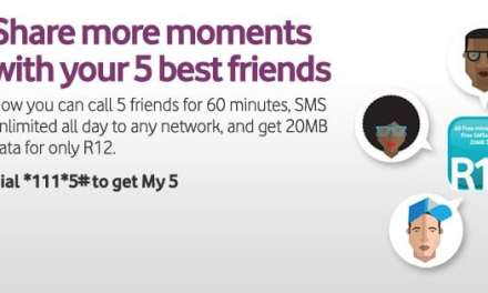 "Vodacom unveils ""My 5"" service"
