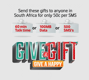 Vodacom – Give a Gift , Give a Happy Promotion Launched