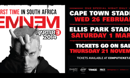 Eminem coming to South Africa for two shows