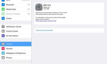 iOS 7.0.4 update fixes FaceTime issues and more