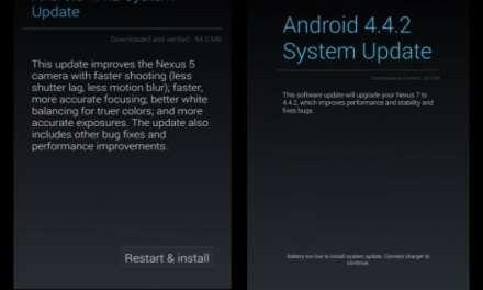 Nexus receives Android 4.4.2 KitKat update