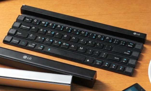 LG Showcases Its 'Rolly Keyboard' – Foldable And Wireless