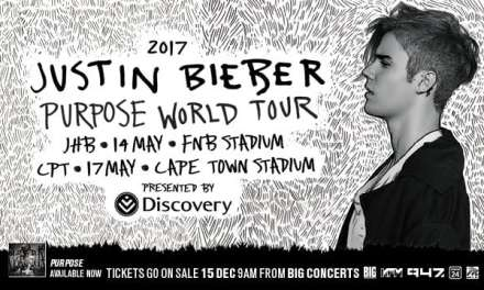 Justin Bieber To Perform In South Africa – May 2017