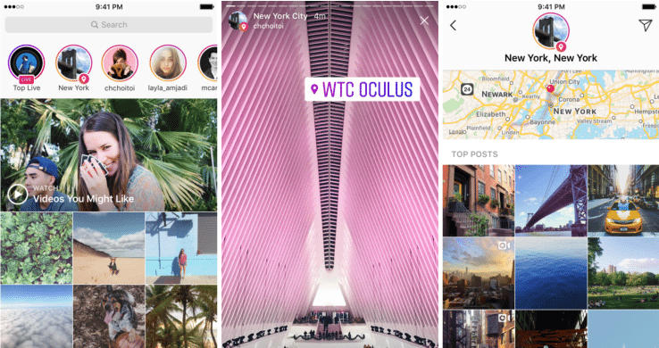 Search Using Locations or Hashtags For Instagram Stories