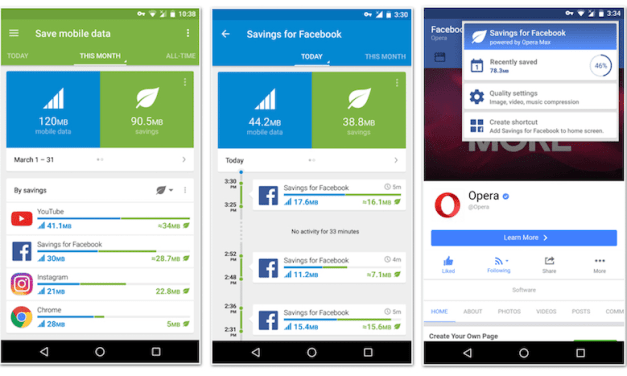 New UI, Data Savings for Facebook, and More In Latest Opera Max Update