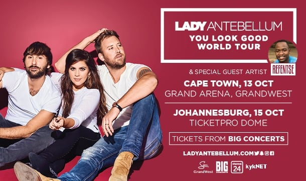 Lady Antebellum – South Africa Tour Cancelled!