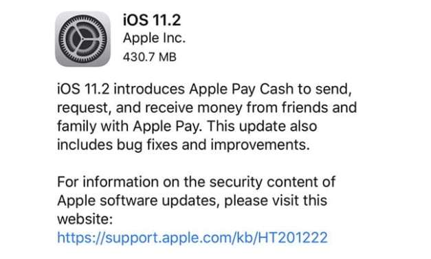 iOS 11.2 Update Now Available, Check The Changes Here