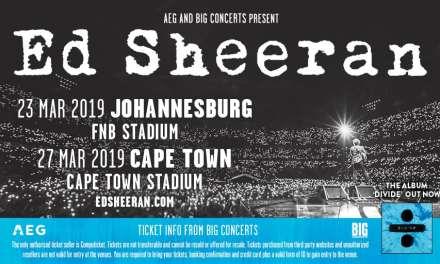Ed Sheeran Announces 2019 South African Stadium Tour Dates