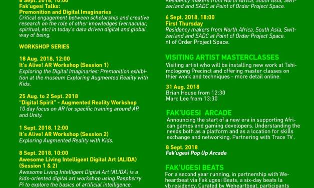 Unpack the source code of your African Identity at the 2018 Fak'ugesi African Digital Innovation Festival