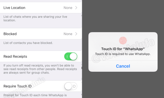 Face ID and Touch ID Biometric Authentication Arrives with WhatsApp for iPhone Update