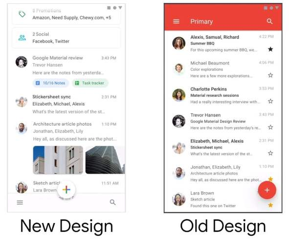 Material Theme Gives Gmail for Android Fresh New Look, On Its Way to